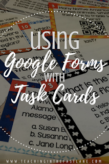 Using Google Forms with Task Cards