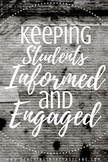 Keeping Students Engaged and Informed