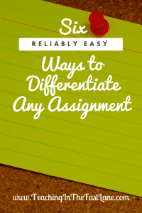Differentiate is likely a word you have heard about a million and one times if you are a teacher. We hear weneed to differentiate assignments for our students, but no one really takes the time to explain what that looks like in the classroom.