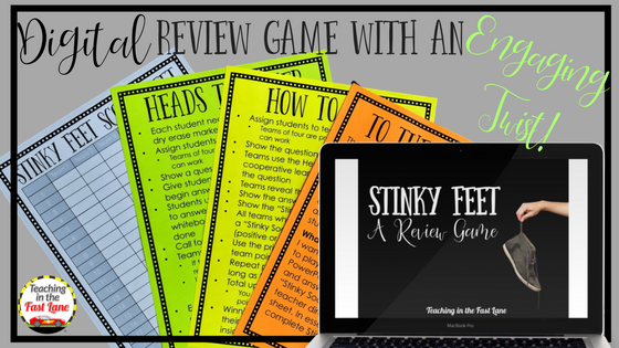 Digital Stinky Feet Game from Teaching in the Fast Lane