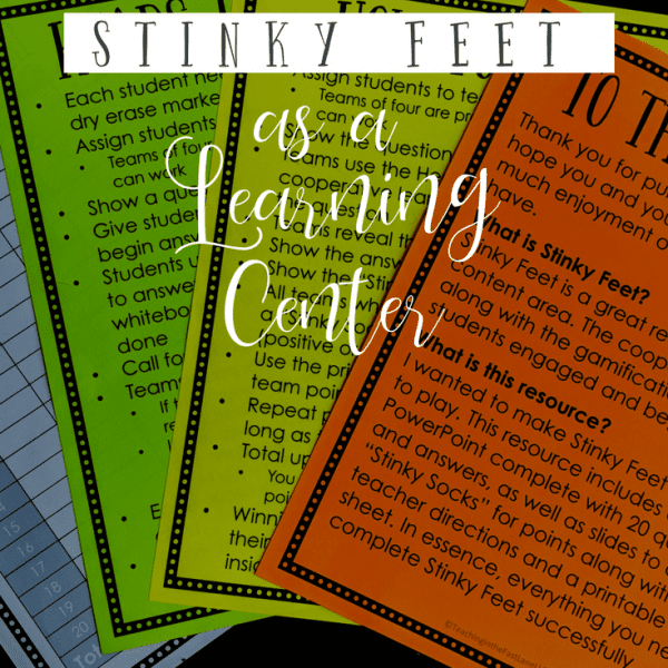 Using Digital Stinky Feet as a Partner Game