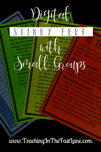 Are you looking for a creative, engaging way to review with your students during small group? Give Digital Stinky Feet a try! This is the same game your students love to play whole group tweaked just a tiny bit to make the perfect small group review!