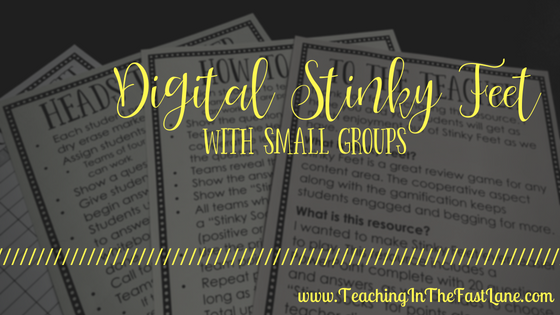 Digital Stinky Feet With Small Groups