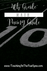 4th Grade Math Pacing Guide - Check out this post for how I lay out the year for 4th grade math including what order units are taught and how long they each take. Use as a rough guide to plan your year!