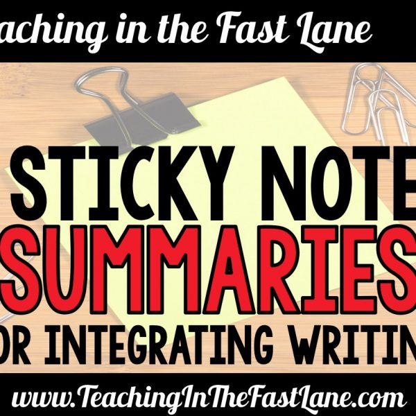 Sticky Note Summaries – Integrating Writing