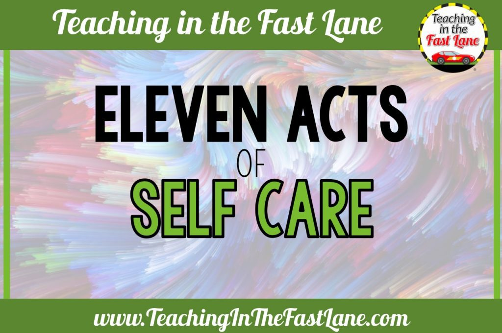 Self care is not selfish. You must take care of yourself before you can take care of others. Check out this post for eleven acts of self care that can save your sanity.
