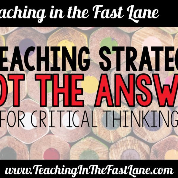 """Not the Answer"" Critical Thinking Activity"