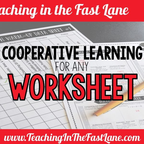 Cooperative Learning Strategies for Any Worksheet