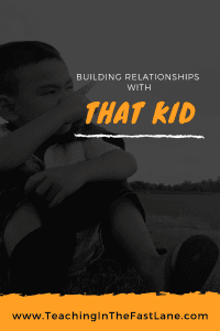 Do you have one student in your class that you can't seem to connect with? Check out these strategies with ideas for how to build a meaningful relationship with them to work together.