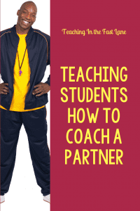 Teaching Students How to Coach a Partner Pin