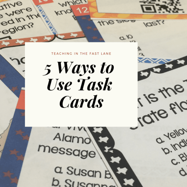 5 Unique Ways to Use Task Cards