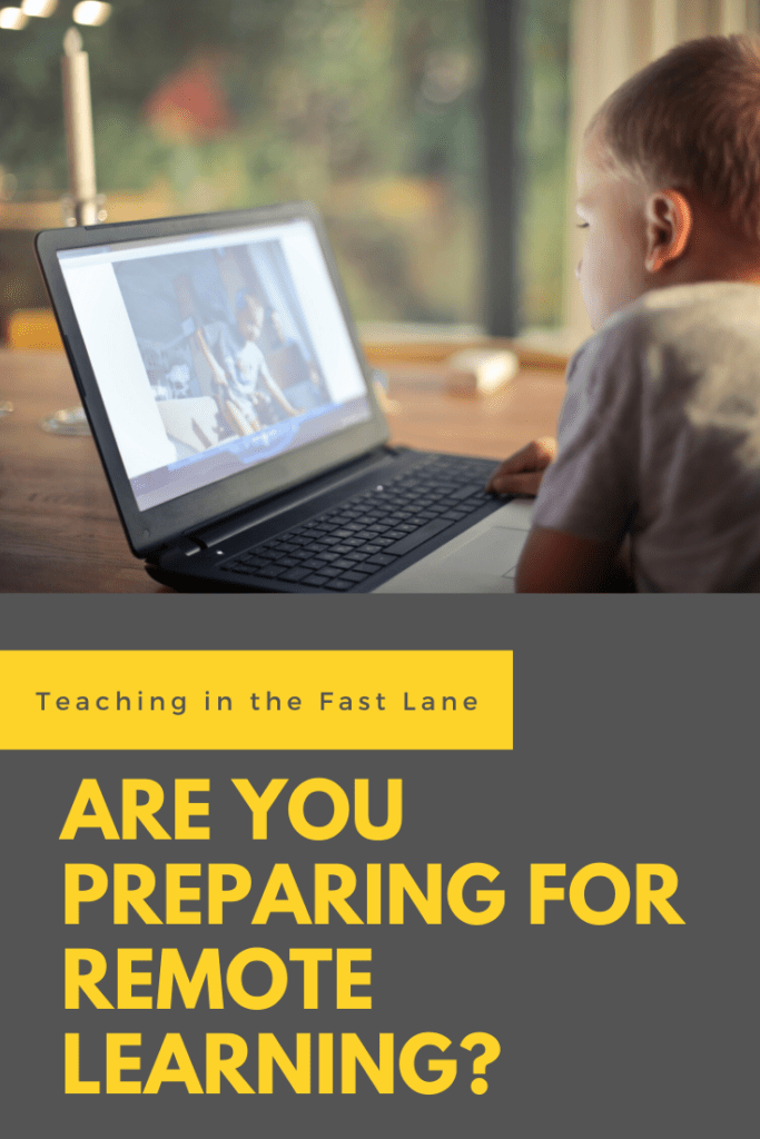 """Photo of child on laptop with title """"Are You Preparing for Remote Learning?"""""""