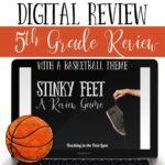 5th Grade Basketball Themed Digital Stinky Feet
