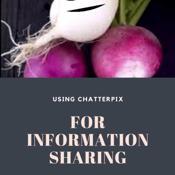 ChatterPix for Information Sharing