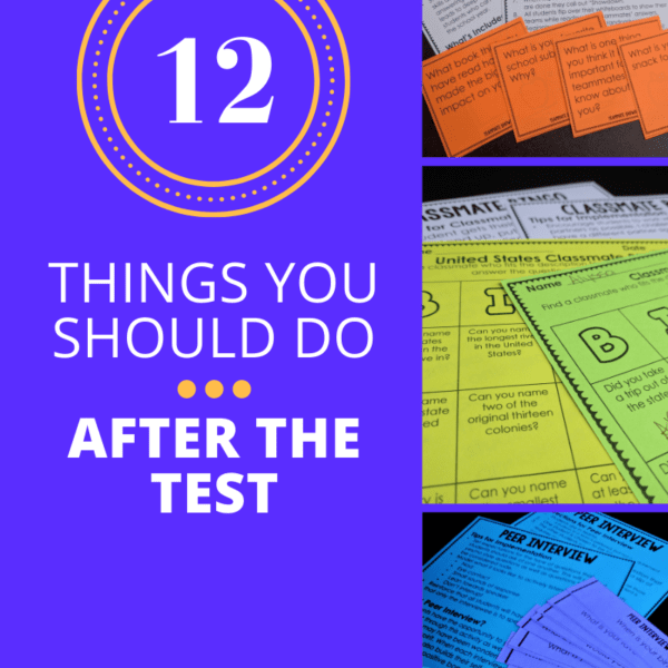 12 Awesome After the Test Activities