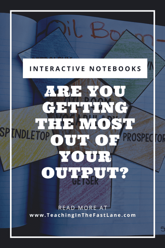 """Interactive notebook activity in the background with the title """"Interactive Notebooks Are You Getting the Most Out of Your Output?"""""""